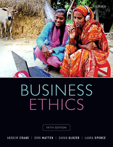 Cover of Business Ethics, Fifth Edition by Crane, Matten, Glozer and Spence
