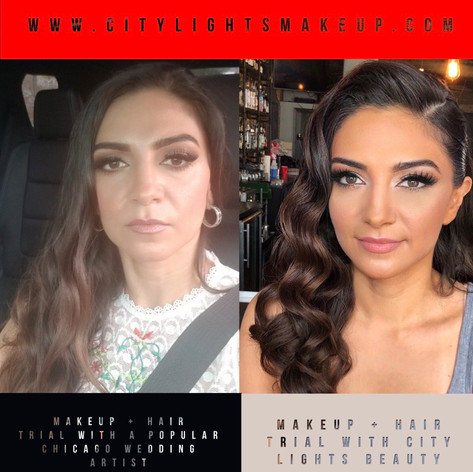 BEFORE + AFTER HAIR + MAKEUP