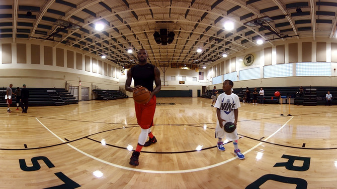 LeBron James' training on your Gear VR