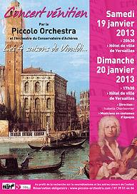 2012-2013 - Piccolo Orchestra - Vivaldi - Achères, Versailles & Vélizy - Yveline -Ile-de-France