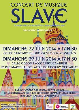 2013-2014 - Piccolo Orchestra - Orchestre symphonique - Slave - Achères & Versailles - Yvelines - Ile-de-France