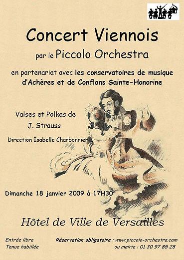 2008-2009 - Piccolo Orchestra - Orchestre symphonique - Valse - Achères, Versailles & Conflans - Yvelines - Ile-d-France