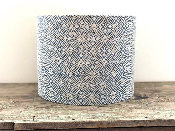 """Cassandra Harper """"Indigo Tile in Blue"""" 30cm Lampshade"""