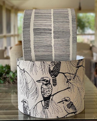 LightenUp Lampshades in Ink & Spindle fabrics