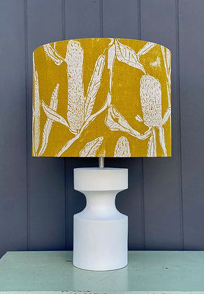 """Tinker by Printink """"Banksia in Mustard"""" 40cm Lampshade"""
