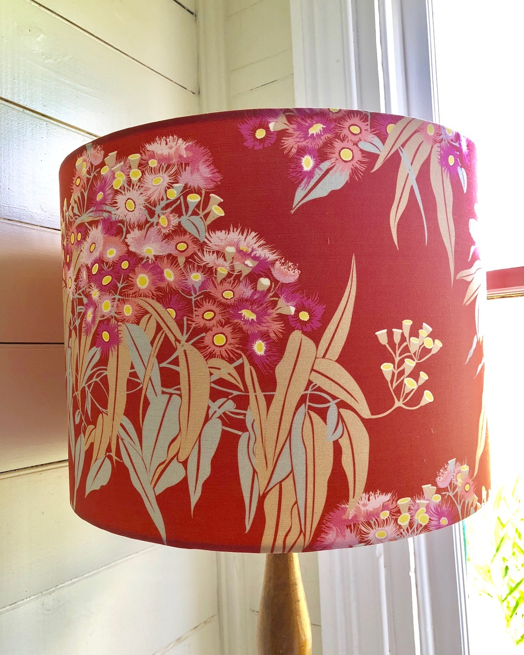4 Leaf Clover fabric lampshade
