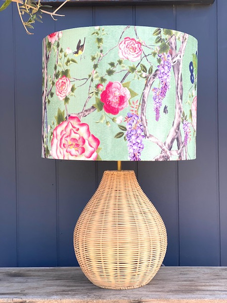 "Kingdom Home ""Empress in Tea Garden"" 40cm D x 30cm H Lampshade"
