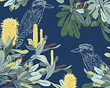 Banksia Navy in Linen / Cotton
