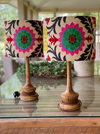 Santa Mara by Waverly fabric lampshades