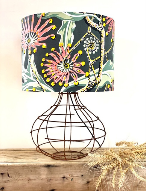 "Utopia Goods ""Firewheel Earth"" Lampshade"