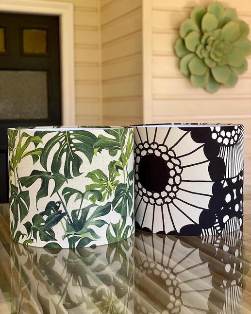 Louise Jones & Marimekko fabric lampshades