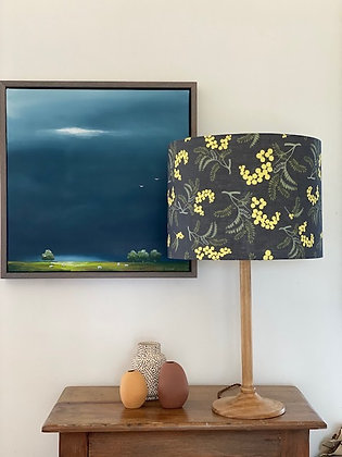 """Wild Wattle in Peat Linen"" 40cmD Lampshade"
