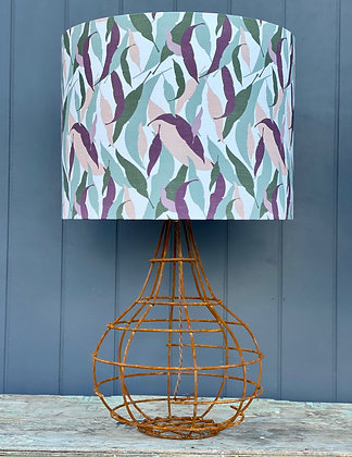 """Tim Neve """"Gum Leaf Camouflage"""" 45cm Lampshade with Wire Lamp Base"""
