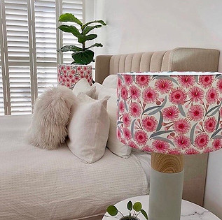 Jos Proust Gum blossom fabric custom order lampshade