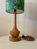 Waxed Timber Lamp Base Small