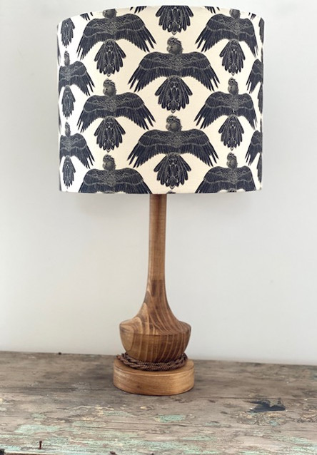 """Black Cockatoos"" Lampshade"
