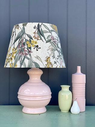 """Adairs """"Eucalyptus"""" 25/35cm Lampshade & Pre-loved Lamp Base"""