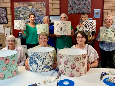 LightenUp Lampshade Workshop            Gunnedah 1 March 2020