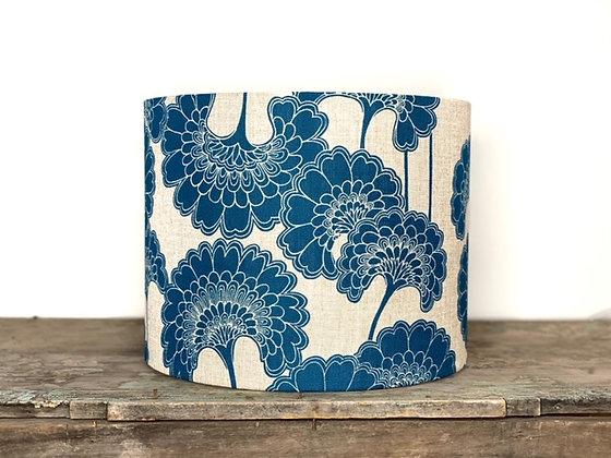 "Florence Broadhurst ""Japanese Floral in Marine"" 35cmD x 28cmH Lampshade"