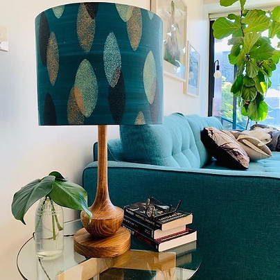 LightenUp Handmade customer lampshadeand