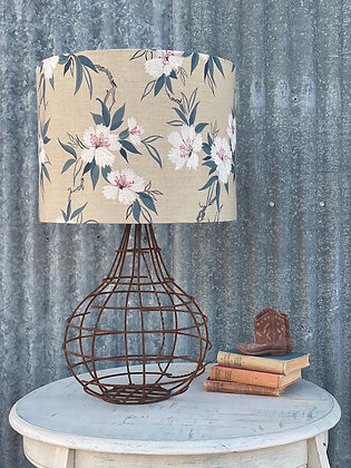 """Sibella Court """"Duane in Archer"""" 45cm Lampshade and Hand-made Wire Lamp Base"""