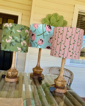 LightenUp Lampshades featuring Tim Neve fabrics