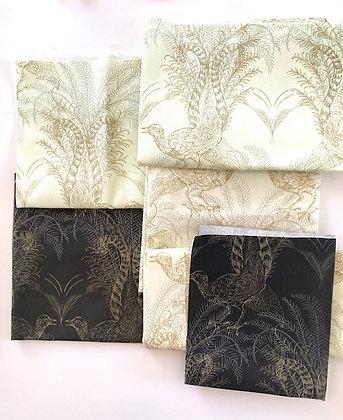 4 Leaf Clover Lyrebird Fabric Remnant Pack 310gm