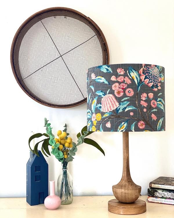 Warwick Hinterland in Charcoal 30cm D x 24cm Lampshade