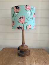 LightenUp Lampshade featuring Tim Neve's Native Protea in Jade