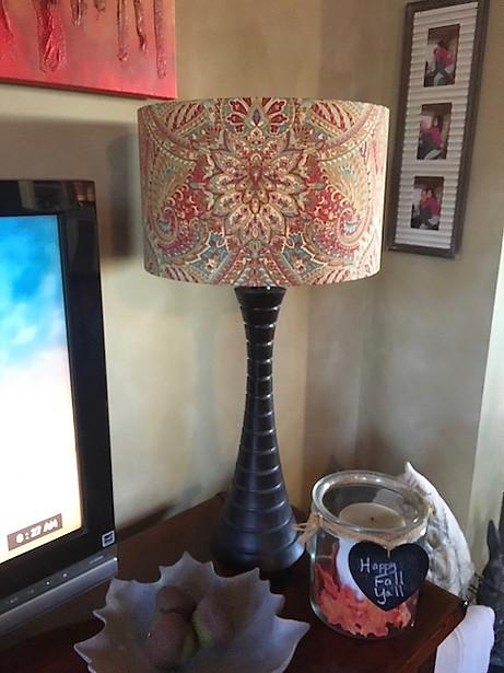 Lightenup Handmade fabric lampshade