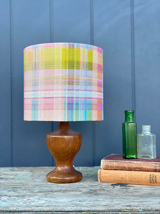 """Anna Spiro """"Tattie"""" 20cm Lampshade and Vintage Timber Lamp Base"""