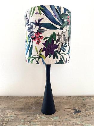 "Louise Jones ""Tropical Original"" Lampshade and Vintage Lamp Base"