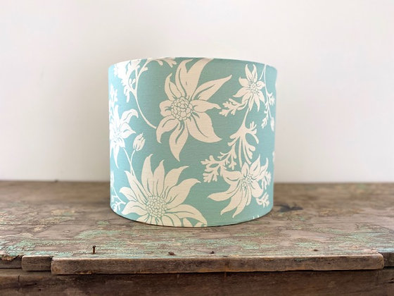 """4 Leaf Clover """"Ficifolia Flannel Flower in Mint"""" 30cm Lampshade"""