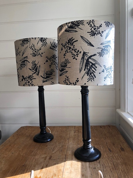 Femke Textiles fabric lampshade by LightenUp Handmade