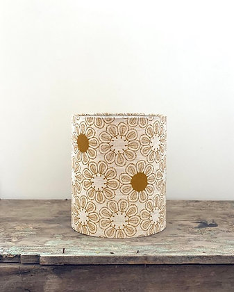 """Ink & Spindle """"Ficus in Yellow Ochre"""" 20cmD Lampshade"""