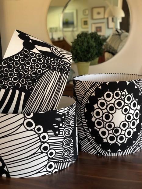 Marimekko Fabric Lamp Shades