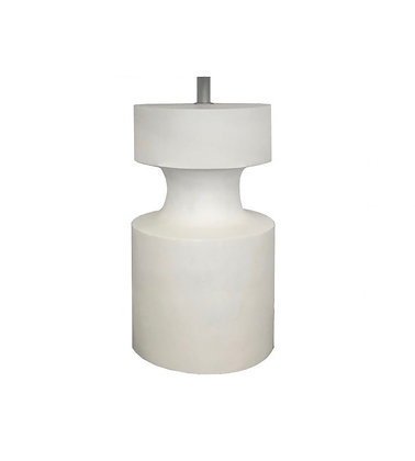 White Timber Lamp Base by MRD Home