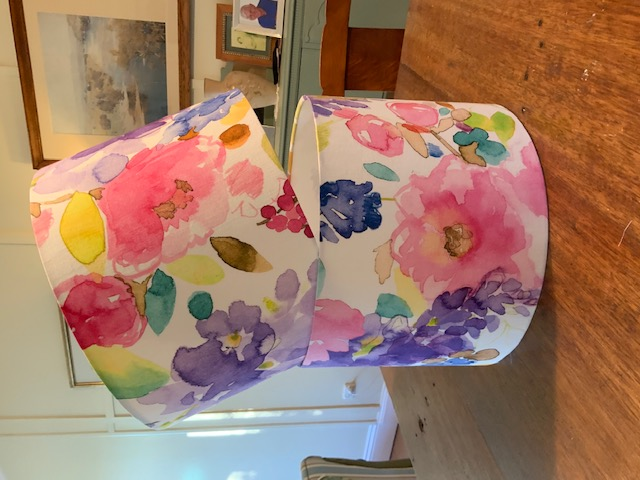 LightenUp Lampshade clients own fabric