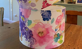 LightenUp Lampshade clients own fabric.j