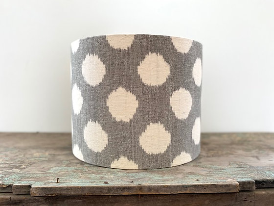 """Ikat Spot in Clay"" 35cm Lampshade"