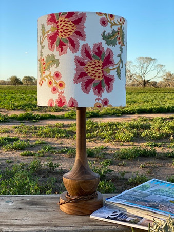 French Floral Ivory 25cm D x 24cm H Lampshade
