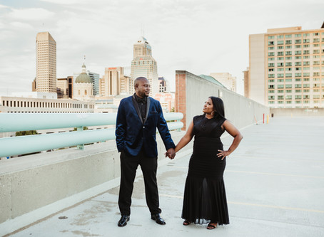 Marcus and Preandra - Indianapolis Engagement Photographer