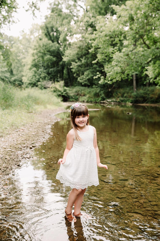 newborn , newborn creek session, creek session, zionsville newborn photographer