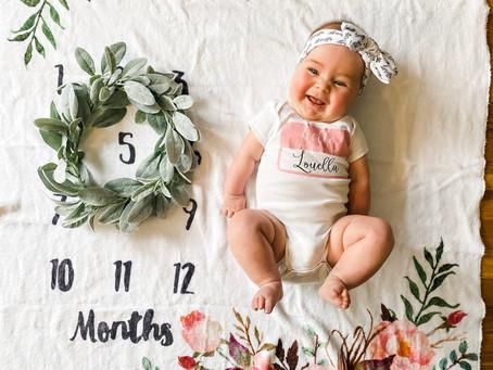 Louella 5 month update!