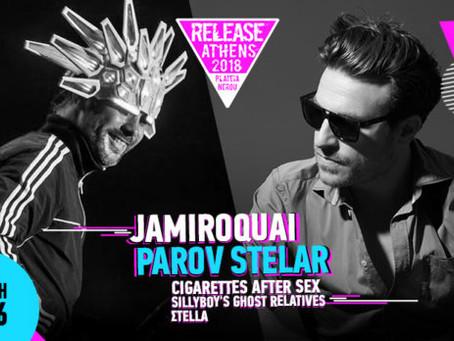 RELEASE FESTIVAL | Jamiroquai Parov Stelar w/  Cigarettes After Sex Sillyboy's Ghost R