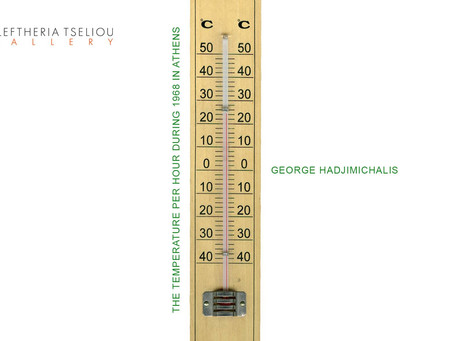 George Hadjimichalis, 'The temperature per hour during 1968 in Athens' Solo Show a