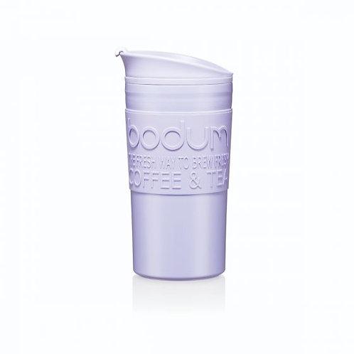 TRAVEL MUG termosinis puodelis, dvigubos plastiko sienelės, 0,35l, alyvinė