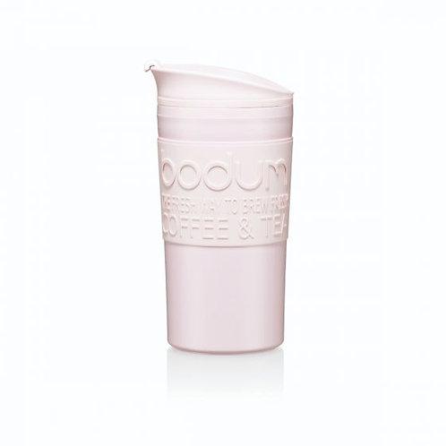 TRAVEL MUG termosinis puodelis, dvigubos plastiko sienelės, 0,35l, rožinė