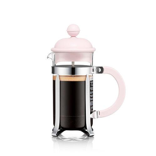 CAFFETTIERA kavinukas  su filtru, 0,35l, rausvas, plastiko kolba