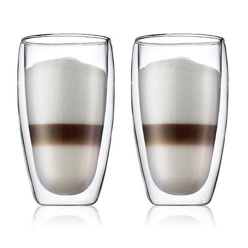 PAVINA stiklinės dviguba sienele, 2vnt., 0,45l